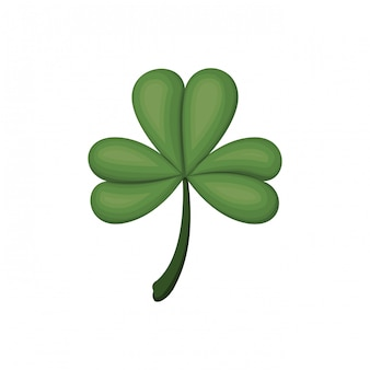Lucky clover isolated icon