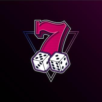 Lucky seven met dobbelstenen