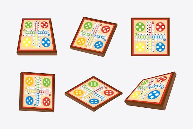 Ludo bordspel in ander perspectief
