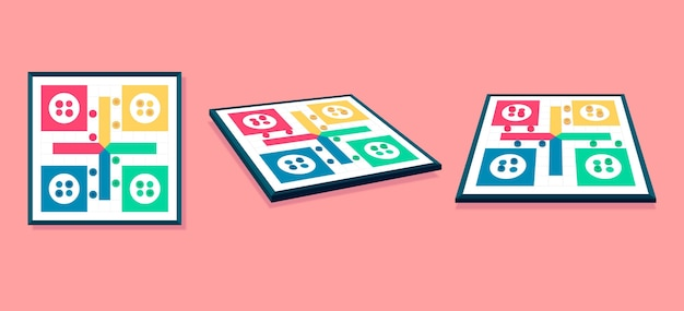 Ludo-spel vanuit verschillende perspectieven