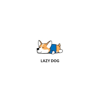 Lui corgi puppy slaappictogram