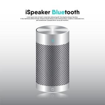 Luidspreker draagbaar bluetooth realistisch 3d-ontwerp, elektronische muziekluidsprekers voor luisterplezier en recreatie-evenementen.