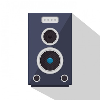 Luidspreker geluidsapparaat illustratie