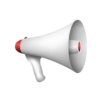 Luidspreker in een realistische stijl voor stemtaal spreker geluid man geïsoleerd