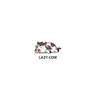 Luie koe slapen pictogram