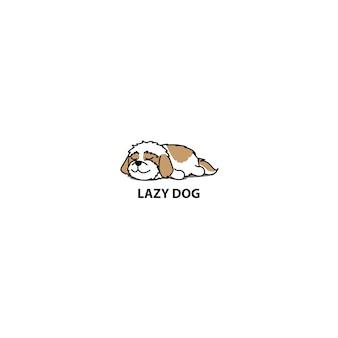 Luie shih tzu hond slaap pictogram