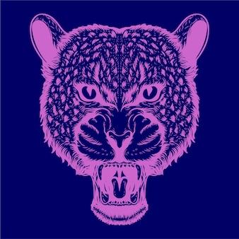 Luipaard kunstwerk illustratie