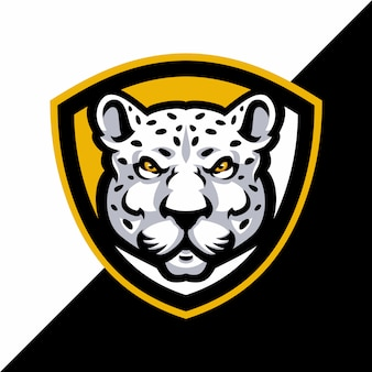 Luipaard mascotte logo sport.