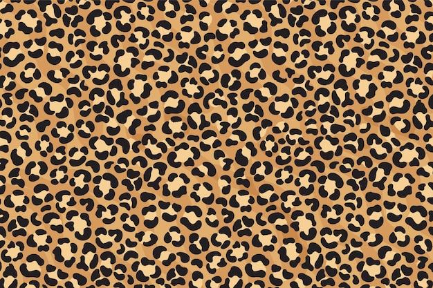 Luipaard print naadloze patroon. cheetah huid. dierenprint.
