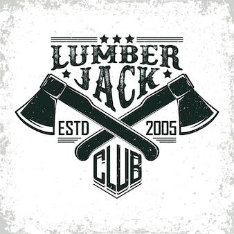 Lumber jack logo