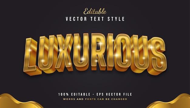 Luxe 3d-gouden tekststijl met gebogen effect