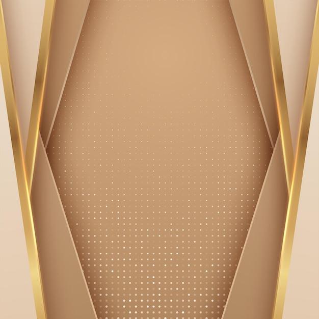 Luxe abstract met gouden lijnen