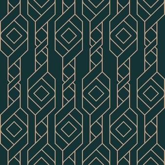 Luxe abstract naadloos patroon, gouden patroon op donkergroen.