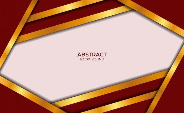 Luxe abstract ontwerp rood en goud