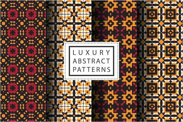 Luxe abstract patroon in mozaïekstijl