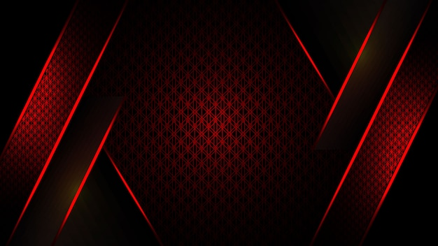 Luxe abstract rood en donker achtergrondmalplaatjeontwerp