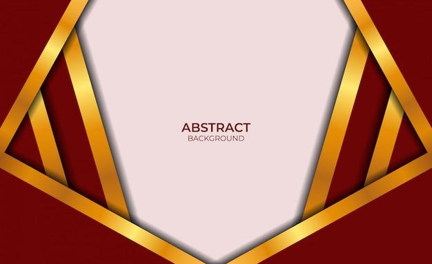 Luxe abstract rood en goud ontwerp