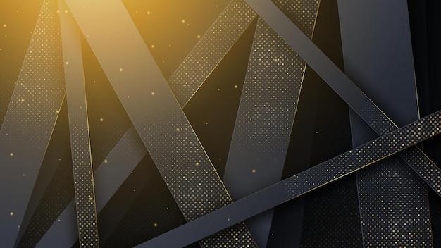Luxe abstracte achtergrond met gouden versiering.