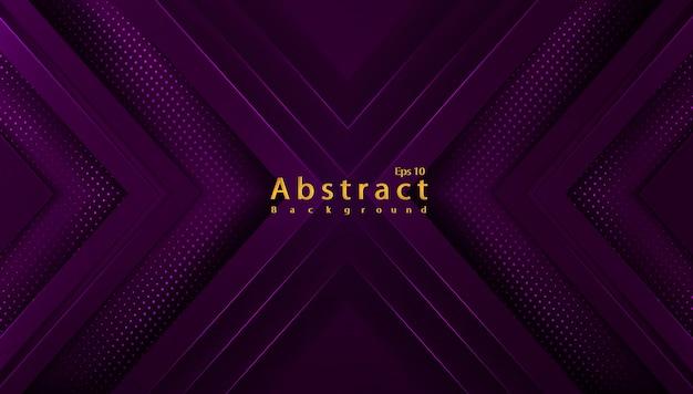 Luxe abstracte achtergrond met papercut decoratie halftoon