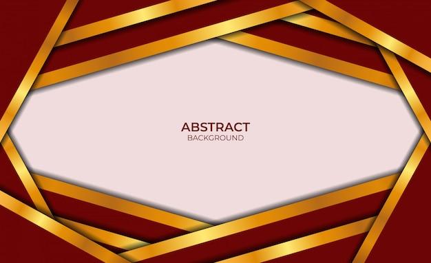 Luxe abstracte achtergrond rode en gouden stijl