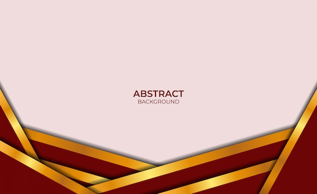 Luxe abstracte achtergrond rood en goud