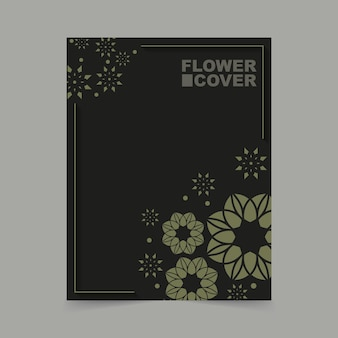 Luxe abstracte bloemen voorbladsjabloon