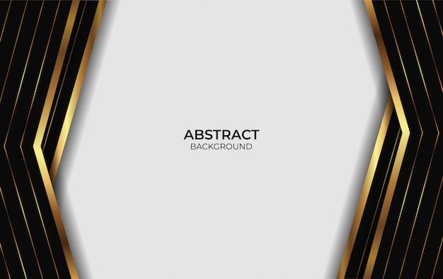 Luxe abstracte gouden en zwarte achtergrond