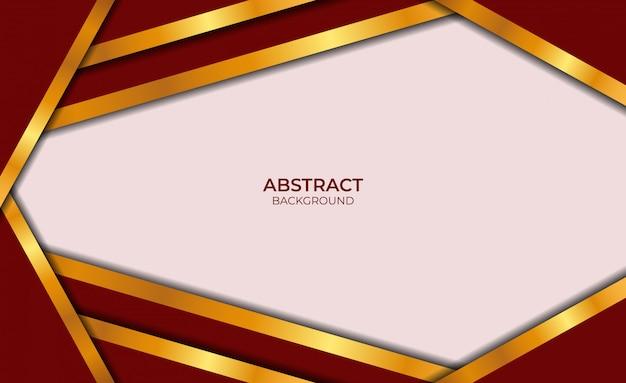 Luxe abstracte ontwerp rode en gouden stijl