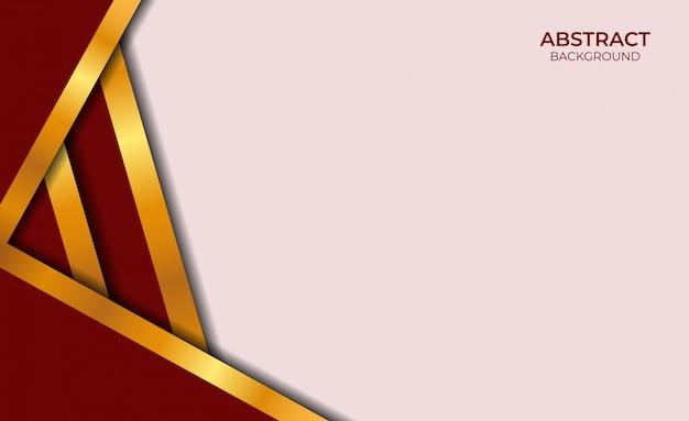 Luxe abstracte rode en gouden achtergrond