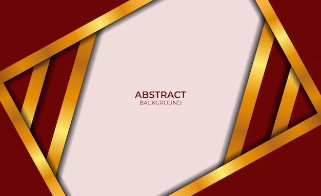 Luxe abstracte rode en gouden stijl