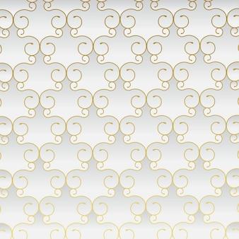 Luxe abstracte stijl naadloos patroon