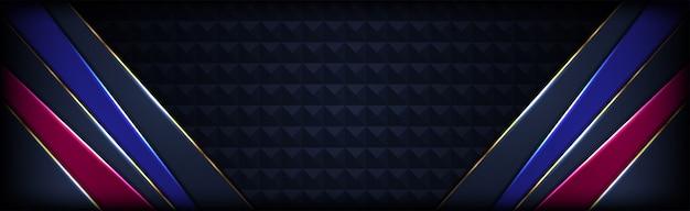 Luxe abstracte tech donkere marine achtergrond met blauw roze