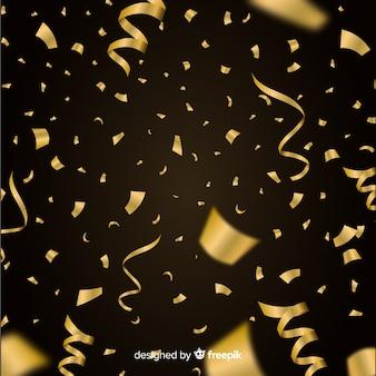 Luxe achtergrond met gouden confetti