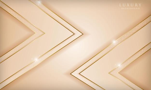 Luxe achtergrond met gouden lijn diagonale schittering en lichteffect moderne voorbladsjabloon