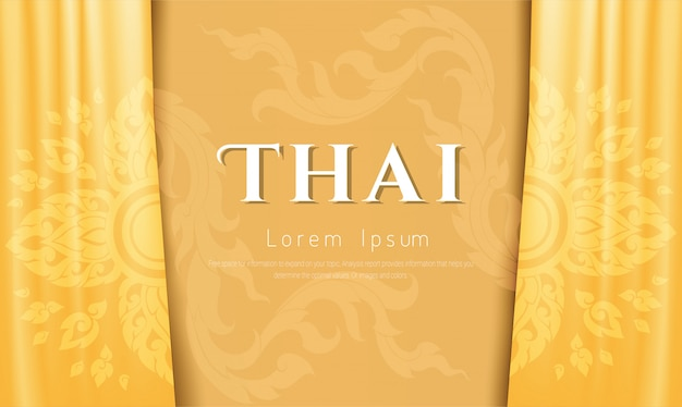 Luxe achtergrond, thais traditioneel concept.