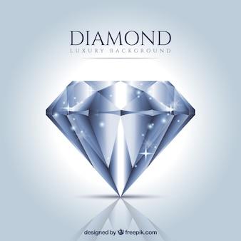 Luxe achtergrond van realistische diamant