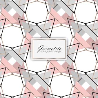 Luxe achtergrondontwerp met geometrische elementen