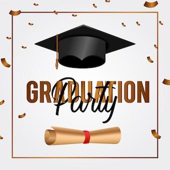 Luxe afstuderen partij uitnodigingskaart
