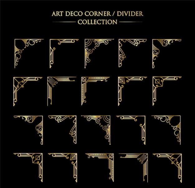 Luxe antiek art deco elementen grote collectie gouden randen lijsten hoeken scheidingswanden en headers
