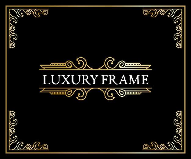 Luxe antieke art deco elementen gouden randen kaders hoeken scheidingswanden en headers