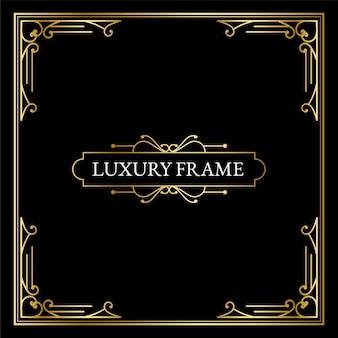 Luxe antieke art deco-elementen grote gouden randen frames hoeken scheidingslijnen en headers