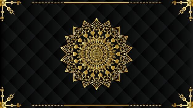 Luxe arabisch mandala achtergrondontwerp
