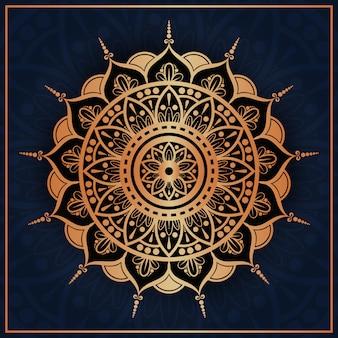 Luxe arabische mandala met gouden arabesque