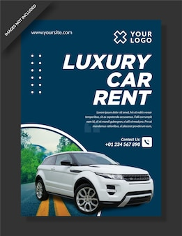 Luxe auto banner websjabloon