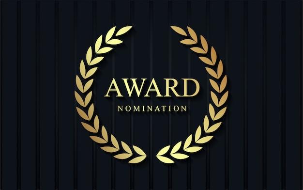 Luxe award nominatie achtergrond.