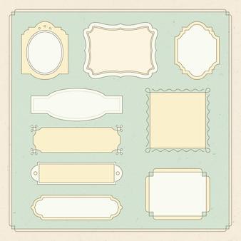 Luxe badge vector set vintage sier bloeit