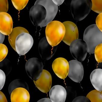 Luxe ballonnen in de kleuren goud, zilver en zwart