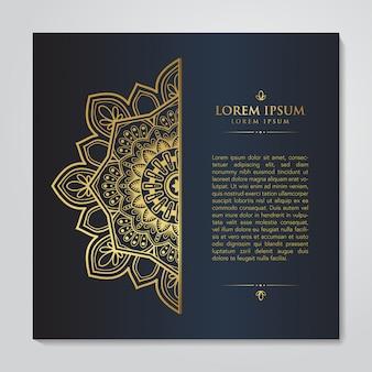 Luxe banner mandala design