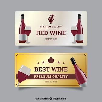 Luxe banners van de beste wijn