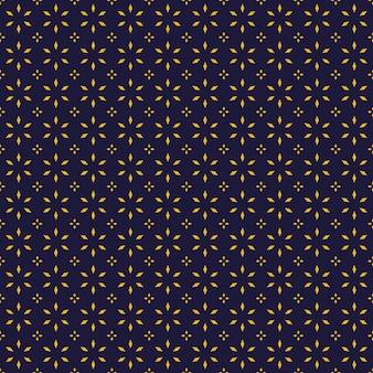 Luxe batik naadloze patroon achtergrondbehang in geometrische vormstijl